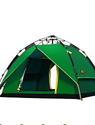 abordables -3-4 personnes Tente Double Tente de camping Tente automatique Garder au chaud Etanche pour Camping / Randonnée Autre matériel CM