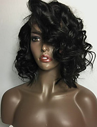 New Style Brazilian Virgin Hair Curly Wig for Woman Lace Front Human Hair Wigs Short Virgin Hair Bob Wig with Baby Hair