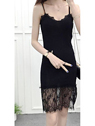 Women's Casual/Daily Long Vest,Solid Deep V Sleeveless Cotton Summer Thin Micro-elastic