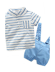 Baby Child Cotton Going out Daily Holiday Stripe Clothing Set
