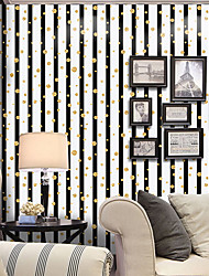 cheap -Striped Art Deco Dots Home Decoration Modern/Contemporary Wall Covering, PVC/Vinyl Material Self adhesive Wallpaper, Room Wallcovering