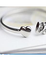 Per donna Anelli per coppie Gioielli Classico Cerchio Argento sterling Rotondo Gioielli Per Compleanno San Valentino