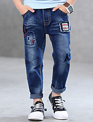 cheap -Boys' Embroidered Jeans,Cotton Spring Summer Blue