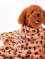 Cane Letti Animali domestici Coperte Leopardata Caldo Portatile A doppia faccia Morbido Leopardo