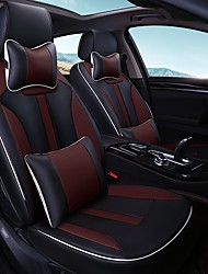 Car Seat Cushion Car Seat Cover Family Car Leather Seat Cover Four General--Black Coffee