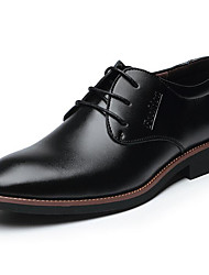 cheap -Men's Shoes Leather Spring Fall Comfort Formal Shoes Oxfords Lace-up for Casual Office & Career Black Brown
