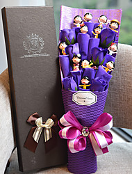 cheap -12 Lovely Dolls With Purple Flowers Kid's Birthday Gift Elegant Style