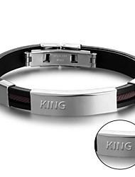 cheap -Korean fashion jewelry titanium Silicone Bracelet Mens Bracelet silicone bracelet