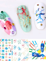 Large Size Water Transfer Printing Cartoon Nail Sticker