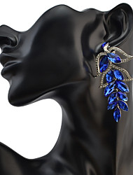 Drop Earrings Women's Euramerican Fashion Leaf Luxury Rhinestone  Earrings  Party Daily Movie Jewelry