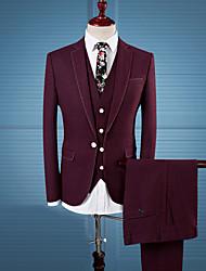 Costume / Tailleur Homme,Couleur Pleine Décontracté / Quotidien Travail Grandes Tailles simple Automne Hiver Manches longuesCol Rond