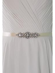 abordables -satin party / evening dailywear ceintures avec un style élégant en strass