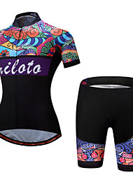 Miloto Cycling Jersey with Shorts Ladies' Female Short Sleeves Bike Clothing Suits Cycling Spandex Polyester Spring/Fall Summer