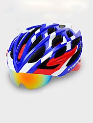 abordables -Casco de bicicleta Ciclismo 22 Ventoleras One Piece Gafas Accesorios Set Ciclismo