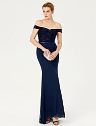 Sereia Cauda Escova Chiffon Renda Evento Formal Vestido com Faixa / Fita Lantejoulas de TS Couture®