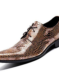 cheap -Unisex Formal Shoes Nappa Leather Fall / Winter Oxfords Gold / Party & Evening / Dress Shoes