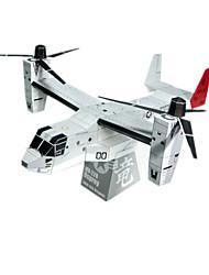 Недорогие -3D пазлы Бумажная модель Наборы для моделирования Летательный аппарат Боец Вертолет Своими руками моделирование Плотная бумага Классика Вертолет Детские Универсальные Мальчики Игрушки Подарок