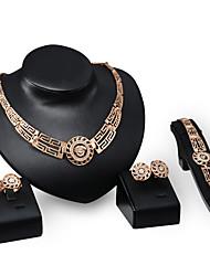 cheap -Women's Rhinestone Rhinestone Gold Plated Luxury Jewelry Set - Personalized Luxury Vintage Statement Euramerican Fashion Others Circle