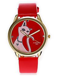 JUBAOLI Муж. Модные часы Уникальный творческий часы Китайский Кварцевый Крупный циферблат Кожа Группа Мультфильмы CoolЧерный Белый