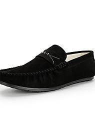 baratos -Homens sapatos Pele Nobuck Inverno Outono Conforto Sapatos de Barco Caminhada para Casamento Casual Festas & Noite Preto Cinzento Marron
