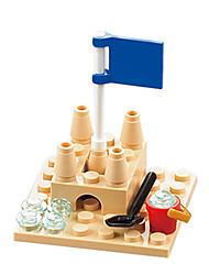 abordables -Bloques de Construcción Puzzle Juguete de Playa y Arena Juguetes de Playa Juguetes Cuadrado Castillo Piezas Unisex Cumpleaños Regalo