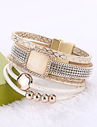 cheap -Women's Leather Bracelet Wrap Bracelet Bohemian PU Leather Circle Jewelry For Wedding Party Birthday Engagement Gift Ceremony Street