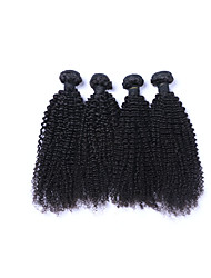 cheap -Popular and High Quality 4Pcs/Lot 400g Brazilian Kinky Curly Virgin Remy Human Hair Wefts 100% Unprocessed Natural Black Human Hair Weaves/Extensions