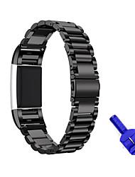 Недорогие -Ремешок для часов для Fitbit Charge 2 Fitbit Спортивный ремешок Нержавеющая сталь Повязка на запястье