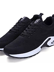 Women's Athletic Shoes Comfort Summer Tulle Walking Shoes Casual Lace-up Flat Heel Black Ruby Green 2in-2 3/4in