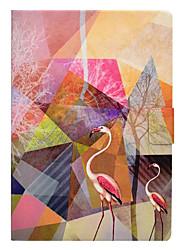 billige -Taske til æble ipad pro 10.5 9.7 '' dækning kort holder med stativ mønster fuld body flamingo hard pu læder ipad (2017) 2 3 4 air 2 air