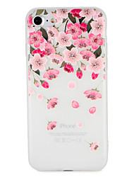 cheap -Case For Apple iPhone 7 Plus iPhone 7 Pattern Embossed Back Cover Flower Soft TPU for iPhone 7 Plus iPhone 7 iPhone 6s Plus iPhone 6s