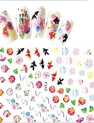 economico -1 Adesivi per manicure Effetto 3D Articoli DIY Adesivo Per ragazza Cosmetici e trucchi Fantasie design per manicure