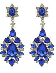 cheap -Drop Earrings Women's Euramerican Fashion 4 Colors Fashion Trendy Women Italina Style Silver Plated Full Rhinestone crystal Drop Dangle Earrings