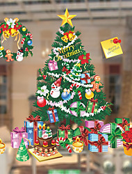 cheap -Window Film Window Decals Style Christmas Tree Gift PVC Window Film