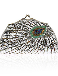 Women Bags All Seasons Polyester Evening Bag Bead for Event/Party Blue Gold Black Silver Purple