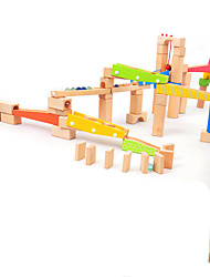 baratos -Pistas para Bolinhas de Gude Pista para Bolinha de Gude Modelo e Blocos de Construção Brinquedos 3D Madeira Para Meninos Crianças Dom 1pcs