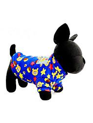 preiswerte -Hund Pullover Hundekleidung Geometrisch Rot Blau Rosa Hellblau Plüsch Daune Kostüm Für Haustiere Lässig/Alltäglich