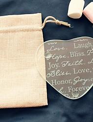 abordables -1 pcs / sac - espoir bonheur paix amour pour toujours verre coaster en sac de jute décoration de fête de mariage beter gifts® style de vie