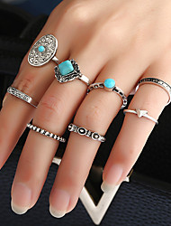 cheap -Women's Band Rings Ring Cuff Ring Geometric Fashion Punk Personalized Hip-Hop Rock Euramerican Costume Jewelry Metal Alloy Resin Mixed