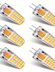 cheap -BRELONG® 6pcs 3W 300 lm G4 LED Bi-pin Lights T 20 leds SMD 2835 Warm White White AC/DC 12