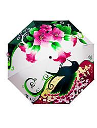 abordables -El plastico Hombre / Mujer / Chico Soleado y lluvioso Paraguas de Doblar