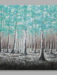 Peint à la main Abstrait Format Horizontal,Abstrait Moderne/Contemporain Un Panneau Toile Peinture à l'huile Hang-peint For Décoration