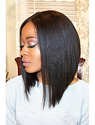 cheap -150% Denisty Virgin Hair Lace Front Short Bob Wigs Yaki Straight Lace Front Human Hair Wigs Brazilian Human Hair Short Bob Wigs