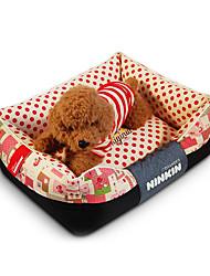 preiswerte -Hund Betten Haustiere Matten & Polster Punkt Warm Weich Kaffee Blau Rosa Für Haustiere