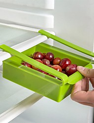 1Pcs  Multi Function ABS Refrigerator Storage Box Sliding Drawers Design Storage Box Kitchen Accessories Random Color