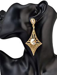 Drop Earrings Women's Euramerican Luxury Fashion 6 Colors New Rhinestone Geometric for Party Daily Movie Jewelry