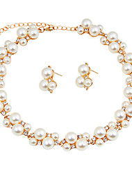 cheap -Women's Jewelry Set Bridal Jewelry Sets Pearl Necklace Imitation Pearl Classic Vintage Simple Style Fashion Euramerican Wedding Party