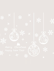 Window Film Window Decals Style Merry Christmas Snowflake Lamp PVC Window Film