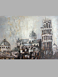 cheap -IARTS® Modern Abstract Oil Painting Vintage The Leaning Tower in Pisa Picture with Stretched Frame Handmade Oil Painting For Home Decoration Ready To