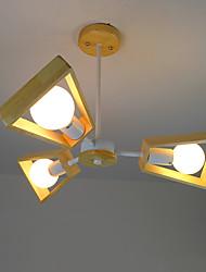 Pendelleuchte, moderne / zeitgenössische Land Holz-Funktion für LED Holz / Bambus Wohnzimmer Schlafzimmer Esszimmer Küche Arbeitszimmer /